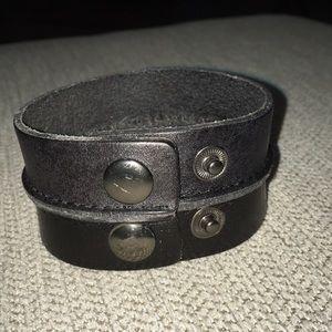 Snap Cuff Leather Bracelet